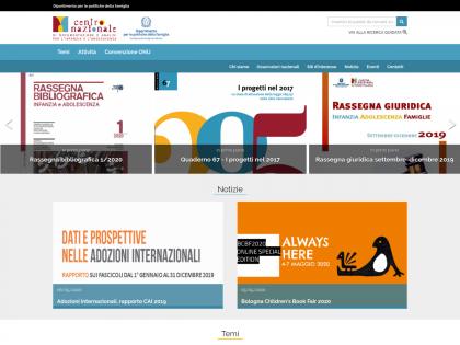 screenshot del sito